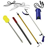 Deluxe Hip/Knee Replacement Kit 7 piece Surgery Recovery Hip Kit Set with 26 inch Reacher - From Mars Wellness