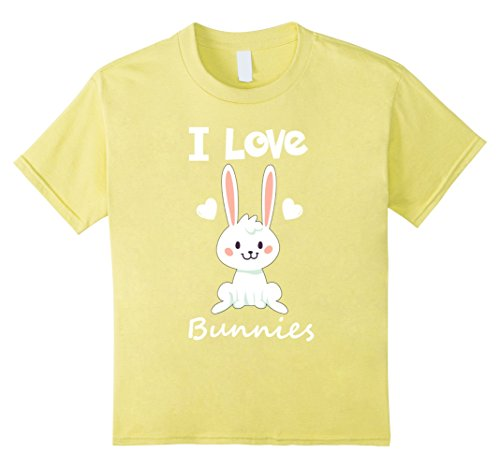 Kids I Love Bunnies Rabbit Animal T-Shirt 4 (Rabbit Animal T-shirt)