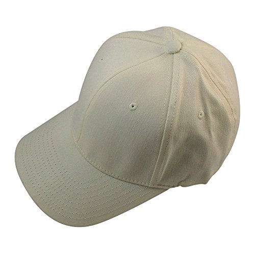 (Blank FlexFit Brushed Twill Ball Cap Hat 6377 (S/M 6 3/4