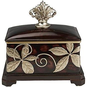 Deco 79 Ceramic Container with Decorative Handle Benzara 61735