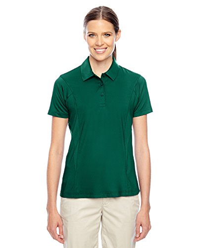 (Team 365 Ladies Charger Performance Polo Shirt, Sport Forest, Medium)