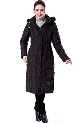 "BGSD Women's ""Tisha"" Water Resistant Long Hooded Down Parka Coat"