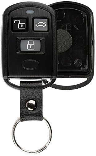KeylessOption Keyless Entry Remote Key Fob Case Shell Button Pad Cover Leather Strap For Sonata PINHACOEF311T