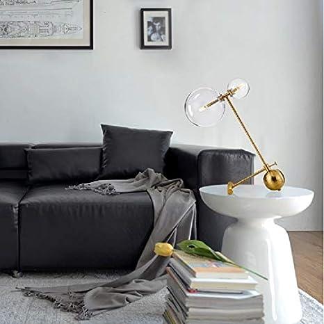 Luz de lámparas de escritorio LED Vida sencilla dormitorio doble ...