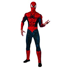Costume Men's Marvel Universe Adult Deluxe Spiderman Costume 41xXPiVaCZL