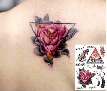 Rosas, plumas, ancla, multicolor, tatuajes falsos, tatuajes ...
