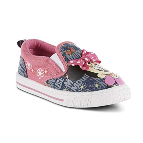 Toddler Girls' Minnie Mouse Canvas Shoe (7) Pink]()