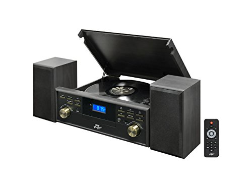 record player with external speakers