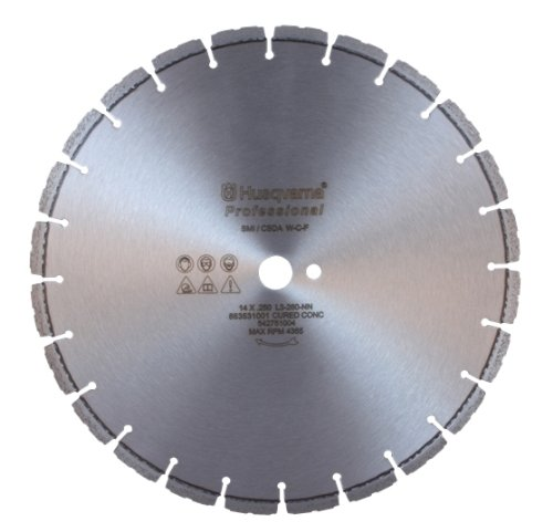 - Husqvarna 542758976 F630C Professional Cured Concrete Diamond Blade, 16-Inch by 0.140-Inch by 1 DP