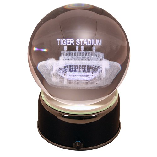 NCAA Louisiana State Tigers Tigers Stadium Etched Lit Rotating Musical Crystal Ball ()