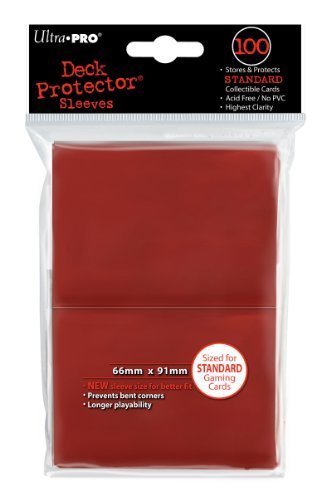 Ultra-Pro Sleeves: New Standard Red Deck Protectors (100) by Ultra Pro