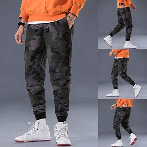 男性の新しいファッションカジュアル迷彩屋外ポケットビーチズボンロングパンツ