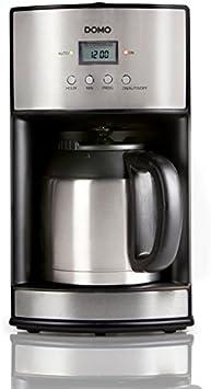 Domo DO474K Independiente Manual - Cafetera (Independiente, Cafetera de filtro, 1,2 L, De café molido, Acero inoxidable): Amazon.es: Hogar