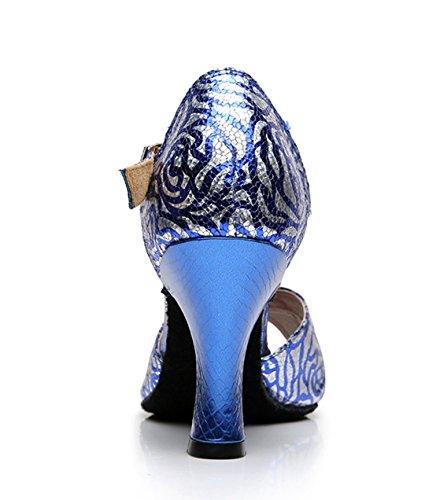 sale retailer 76883 809de ... Tda Donna Singolo Cinturino In Pelle Di Serpente Sintetico Salsa Tango  Da Ballo Scarpe Da Ballo ...