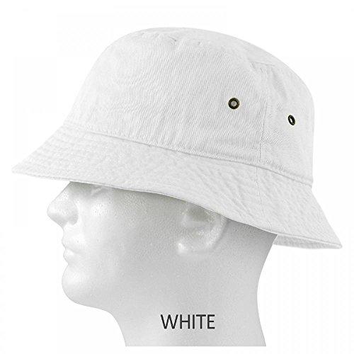 White_(US Seller) Cotton Boonie Fishing Summer Hat Cap Sportsman