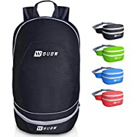 BUBW 2 in 1 Packable Waist Lightweight Foldable Backpack (Multiple Colors)