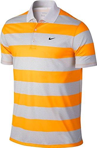 Nike Men's Golf Victory Bold Stripe Polo - Medium - Vivid Orange/Black