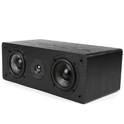 Micca MB42-C Center Channel Speaker With Dual 4-Inch Carbon Fiber Woofer and Silk Dome Tweeter (Black, Each) by Team Wise Holdings Limited - Direct Import FOB