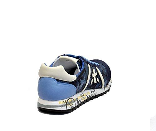 Premiata Hombre LUCY2113 Azul Tela Zapatillas
