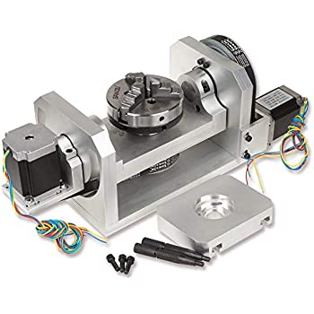 Amazon com: Rino Motorized Rotary Table Stage CNC 4th Axis Sherline
