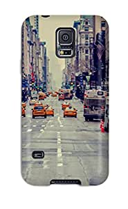 5910062K75038598 Hot Design Premium Tpu Case Cover Galaxy S5 Protection Case(city)