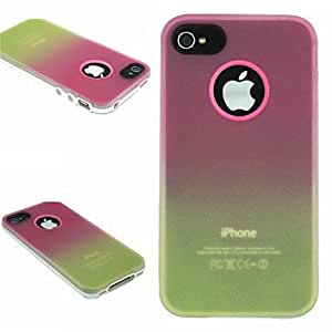 SOL TPU+PC Two in One Rose/Yellow Gradient Back Cover Case for iPhone 4/4S