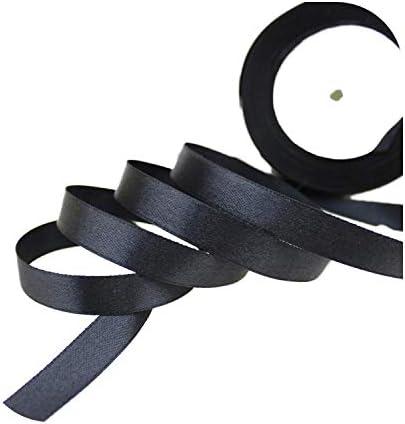 kawayi-桃 (25ヤード/ロール)片面サテンリボンウェビング装飾ギフトクリスマスリボン(6/10/12/15/40 / 50mm)-Black-50mm