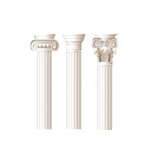 VROSELV Custom Blanket Pillar Architecture Theme Design Ionic Doric and Corinthian Marble Columns Digital Print Bedroom Living Room Dorm Coconut