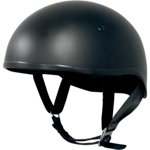 AFX FX-200 Unisex-Adult Half-Size-Helmet-Style Slick Beanie-Style Half Helmet (Slick Flat Black, Large)