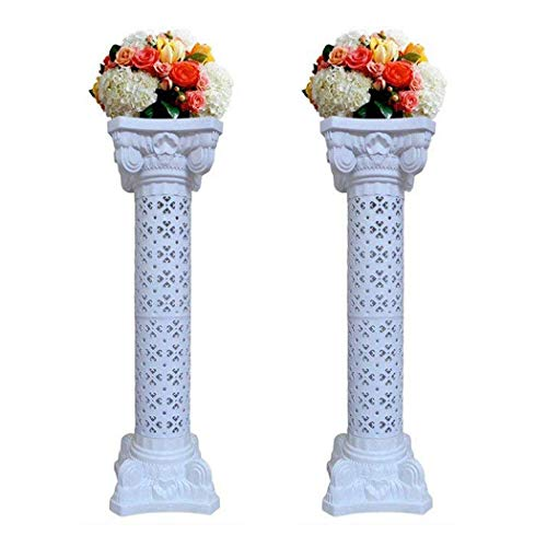 Elegant Wedding Roman Column Set Pillars Decoration Party Flower Pot Columns Decor Roman Columns for Weddings(1 Pair) -
