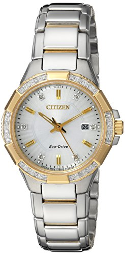 Citizen Women's 'Eco-Drive' Quartz Stainless Steel Casual Watch, Color Two Tone (Model: EW2464-55A) (Citizen Eco Drive 55a)