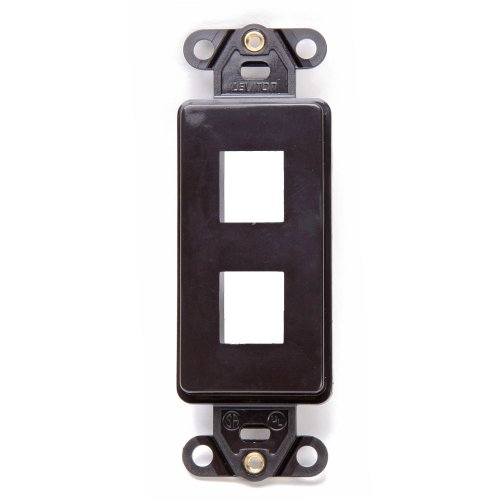 Video Decora Wall Plate (Leviton 41642-B QuickPort Decora Wall Plate Insert, 2-Port, Brown)
