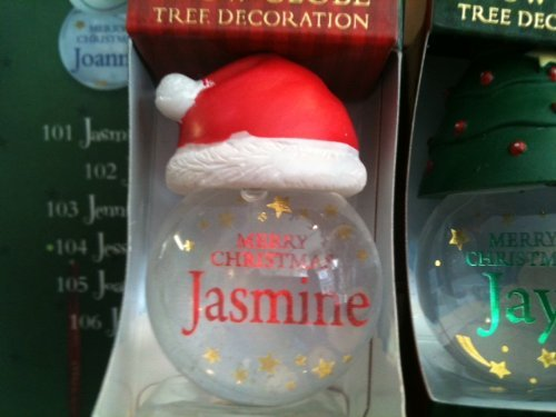 Jasmine - Personalised Snow Globe Decoration - Boxed