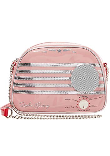 Betsey Johnson Kitsch Vintage Radio Waves Crossbody Bag in P