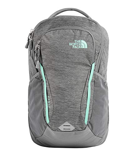 The North Face Women's Women's Vault Backpack Zinc Grey Light Heather/Mint Blue One Size (The North Face Borealis Backpack Zinc Grey Heather)
