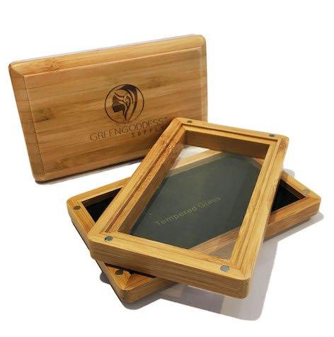 Medium Bamboo Pollen Sifter/Shaker Box w/ 100 Micron Mesh Screen by Green Goddess Supply