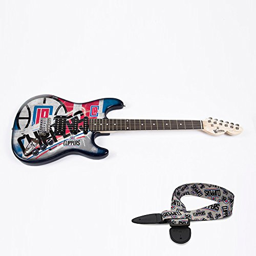 Los Angeles Clippers NBA ''Northender'' Electric Guitar with Strap by Woodrow