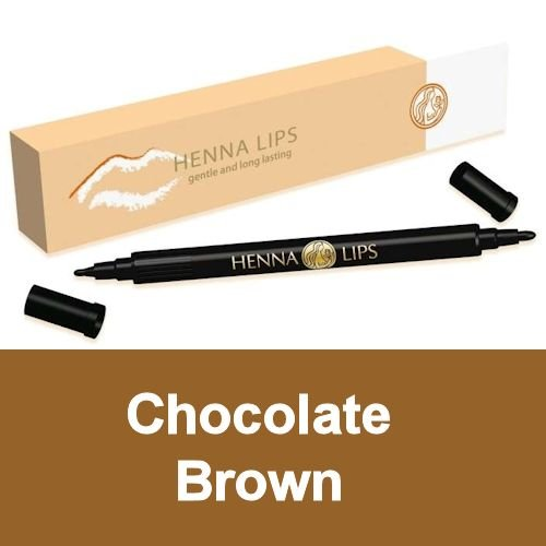 Natural Lip Stain, Henna Lips Lip Liner - Chocolate (Neway Natural)