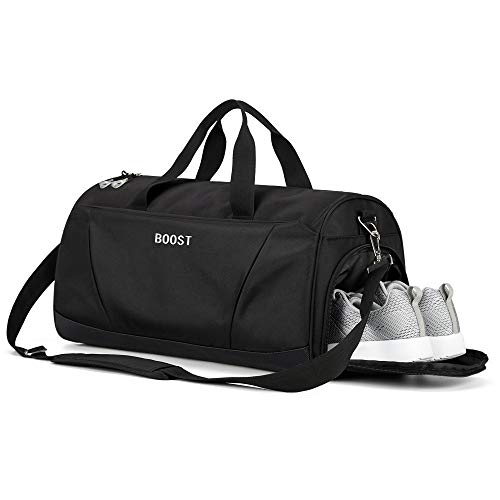 Sports Gym Bag with Wet Pocket & Shoes Compartment for Women & Men from Boost
