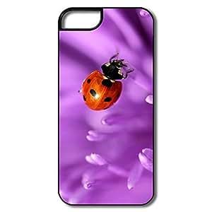 IPhone 6 plus Cases, Ladybug Purple Petals Whiteblack Case For IPhone 6 plus