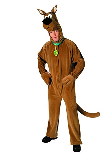 Character Costumes - Deluxe Scooby Doo Costume, Orange, Standard