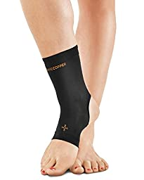 Tommie Copper Women\'s Recovery Thrive Ankle Sleeve, Black, Medium