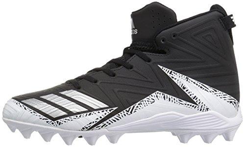 Pictures of adidas Men's Freak X Carbon Mid Football Shoe, Black/Metallic Silver/White, 9.5 Medium US 5