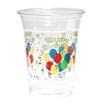 KOVOT 50 Count 16-Ounce Plastic Cups (Happy Birthday) - Happy Birthday Cups