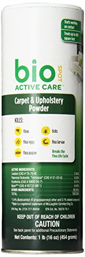 BioSpot Active Care Carpet Powder 16 oz (Bio Flea And Tick Spot On Reviews)