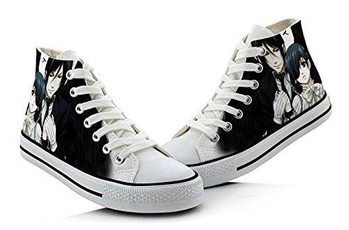 Zwarte Butler Kooshitsuji Ciel En Sebastian Cosplay Schoenen Canvas Schoenen Sneakers Kleurrijke 4 Keuzes Foto 3