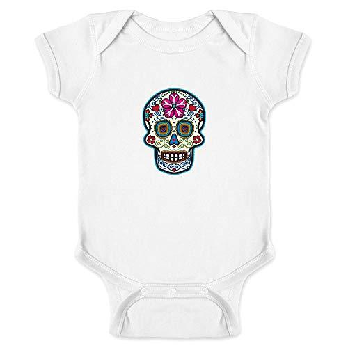 Sugar Skull Dia de Los Muertos Horror Retro White 24M Infant