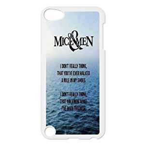 Custom Of Mice & Men Cover Case, Custom Hard Back Phone Case for iPod Touch 5 Of Mice & Men