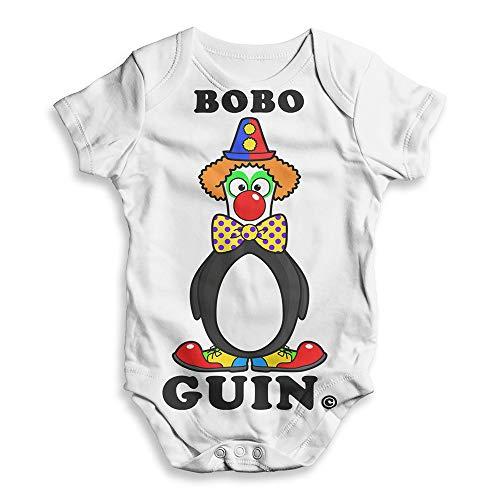 TWISTED ENVY All Over Print Babygrow Onesie Bobo Clown Guin The Penguin White 18-24 Months