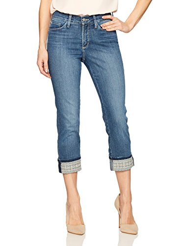 (NYDJ Women's Dayla Wide Cuff Capri Jeans, Heyburn-Embroidered 0)